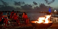 Enjoy our lakeside firepits at the end of every day